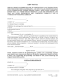 Multistate Lien Waiver Form Free Download