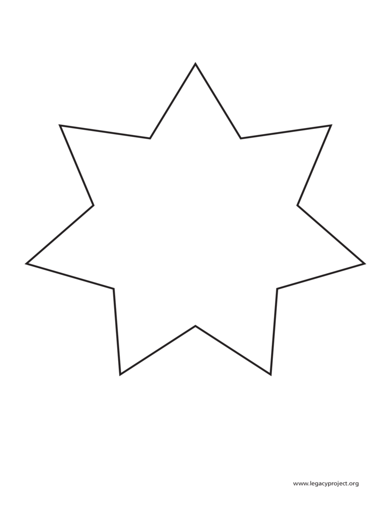Seven-Pointed Star Template