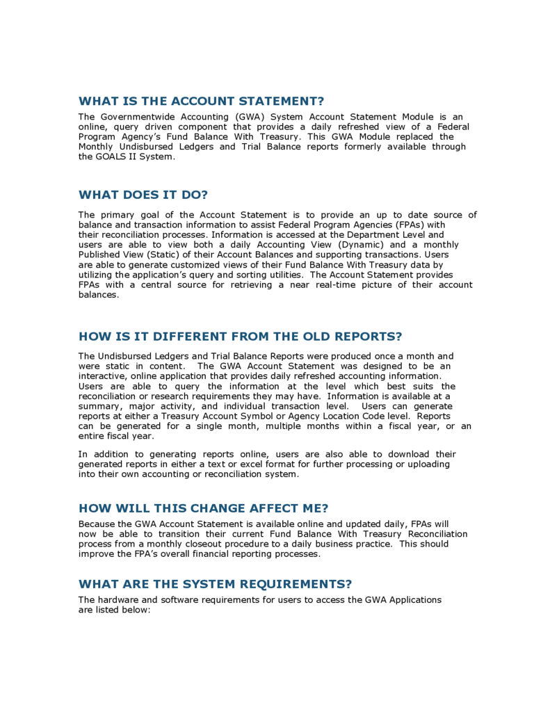 Account Statement Fact Template
