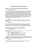 Statement of Work Example Free Download