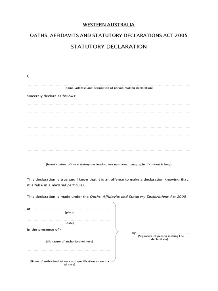 Statutory Declaration Form - 13 Free Templates in PDF, Word, Excel ...