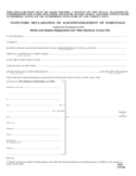 Statutory Declaration of Acknowledgement of Parentage Form
