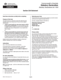 Statutory Declaration - Section 23A Statement Form Free Download