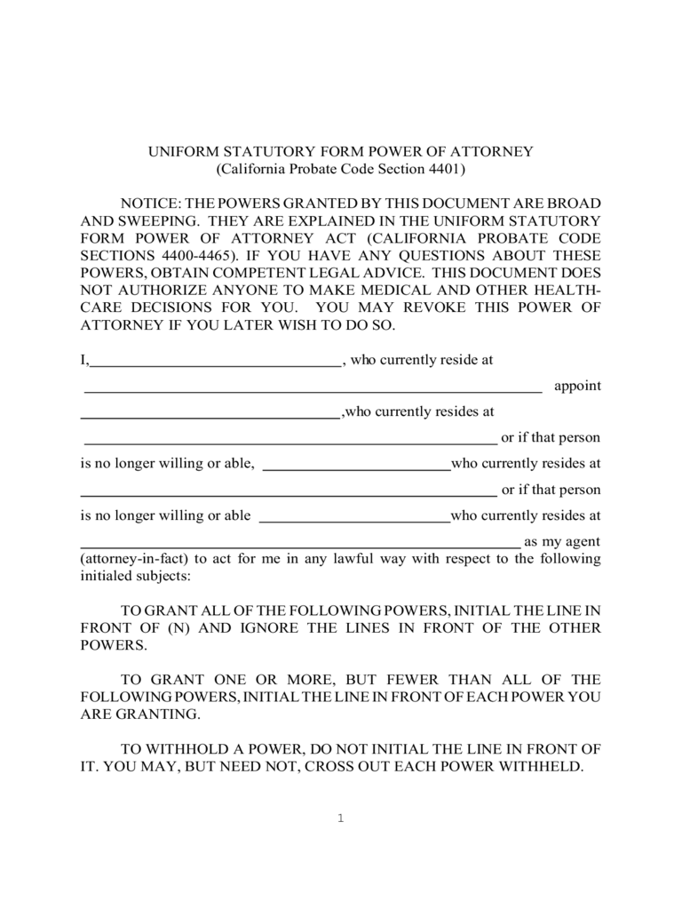 california power of attorney form free templates in pdf word excel to print. Black Bedroom Furniture Sets. Home Design Ideas