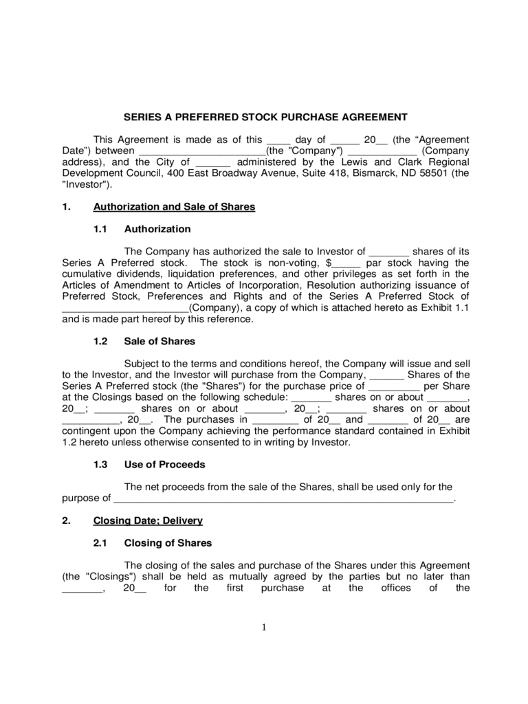 Stock Purchase Agreement Form 2 Free Templates in PDF Word – Stock Purchase Agreement Template