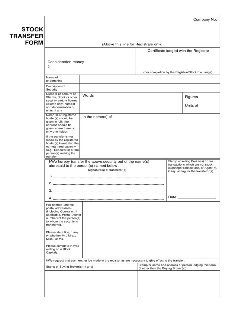 stock transfer form 9 free templates in pdf word excel download