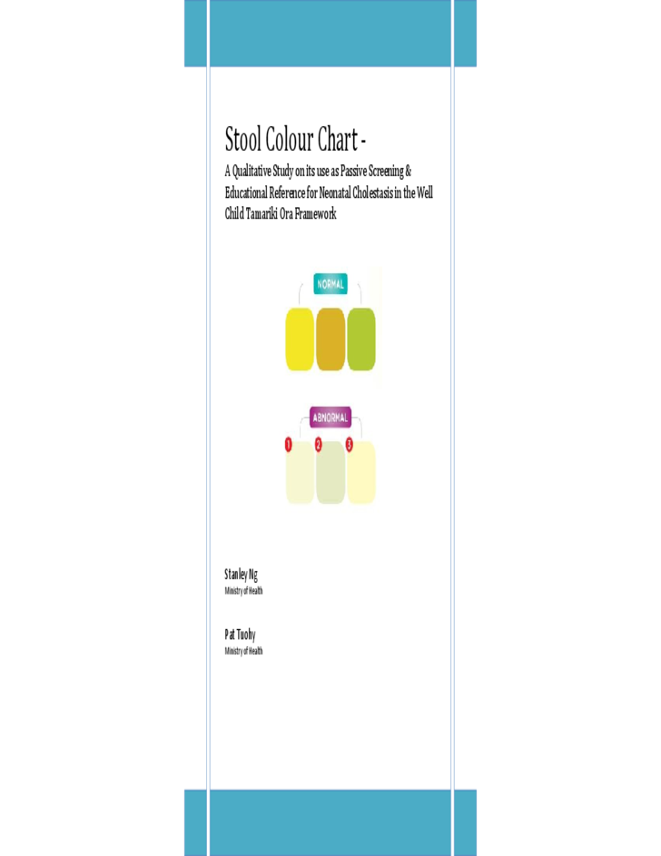 study of stool color chart free download