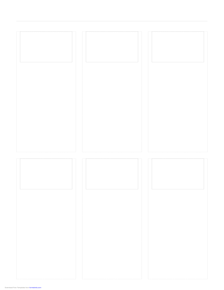 Storyboard with 3x2 Grid of 4:3 Screens on Legal Paper