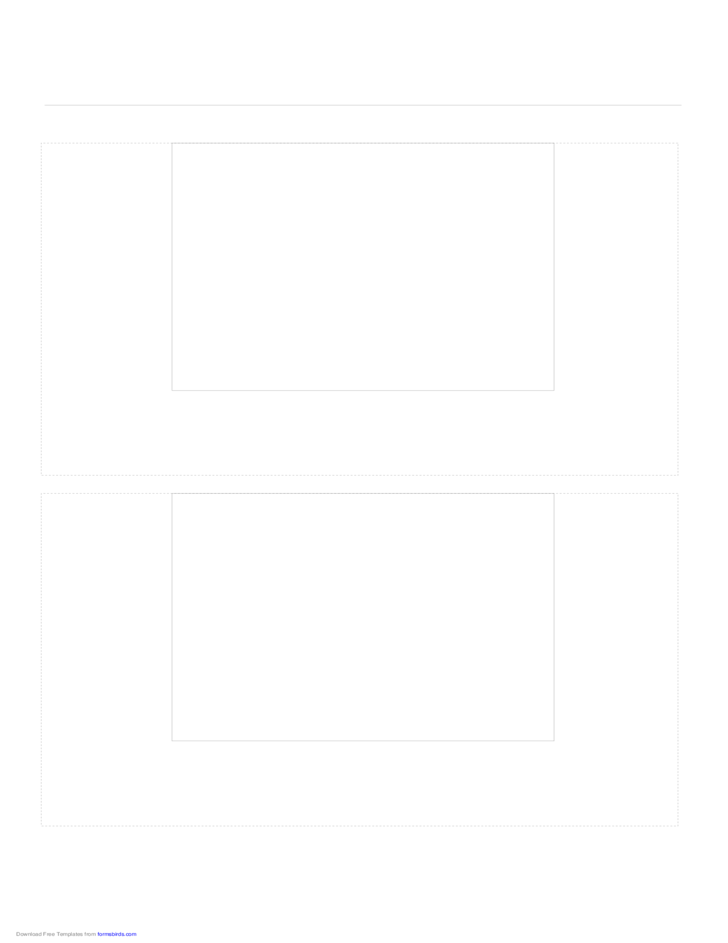 Storyboard with 1x2 Grid of 4:3 (Full Screen) Screens on A4 Paper