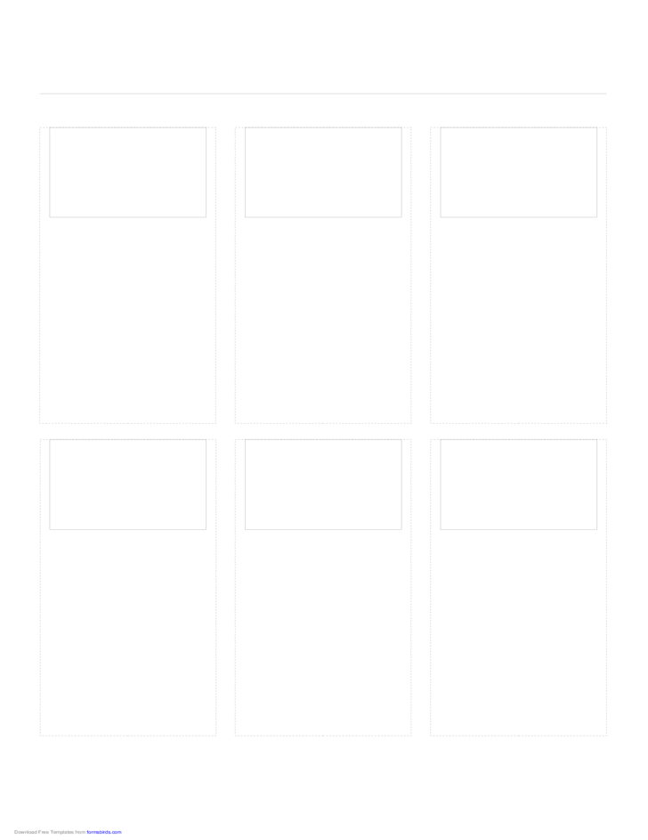 Storyboard with 3x2 Grid of 3:2 (35mm Photo) Screens on A4 Paper