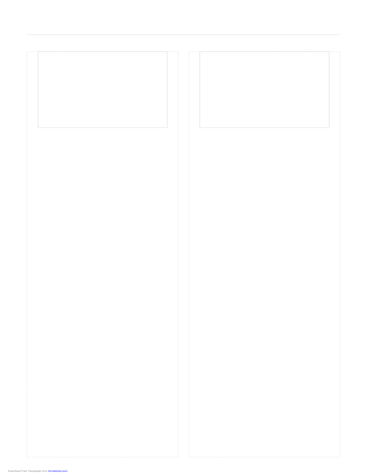 Storyboard with 2x1 Grid of 4:3 (Full Screen) Screens on Legal Paper
