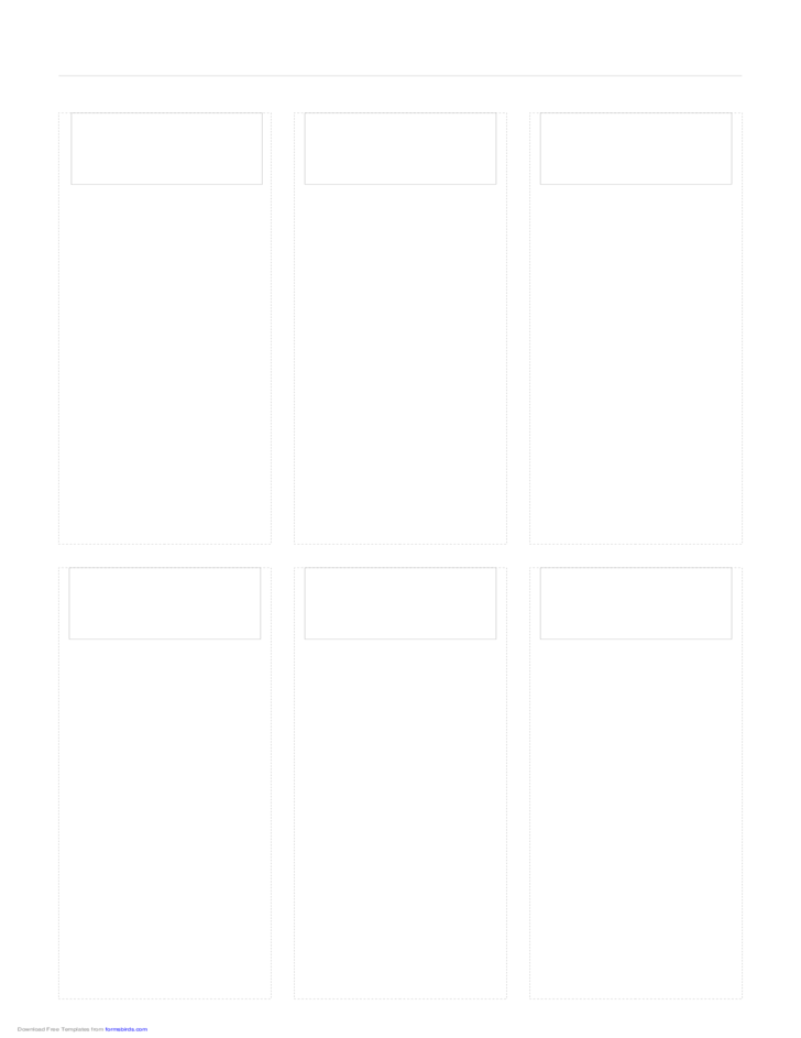 Storyboard with 3x2 Grid of 16:9 (Widescreen) Screens on Legal Paper