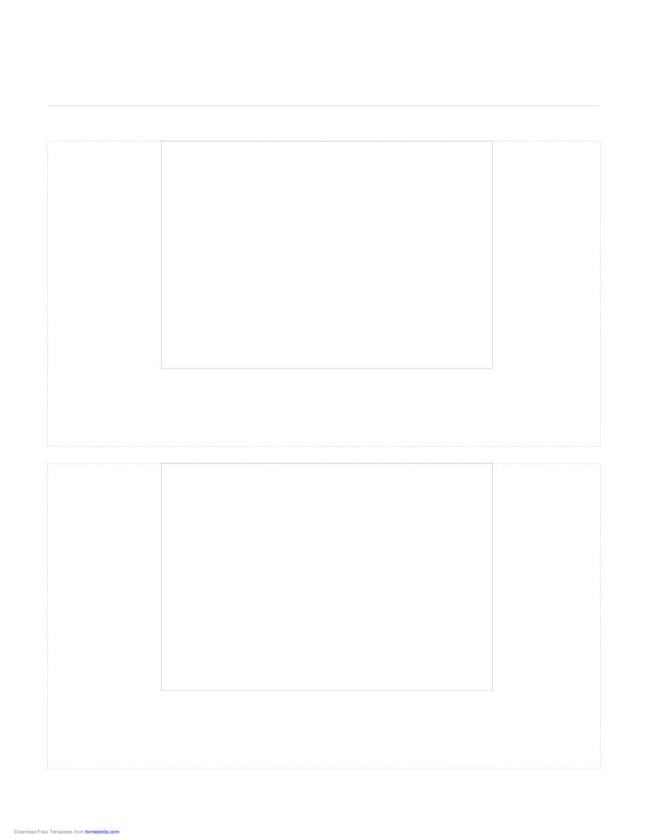 Storyboard with 1x2 Grid of 4:3 (Full Screen) Screens on Letter Paper