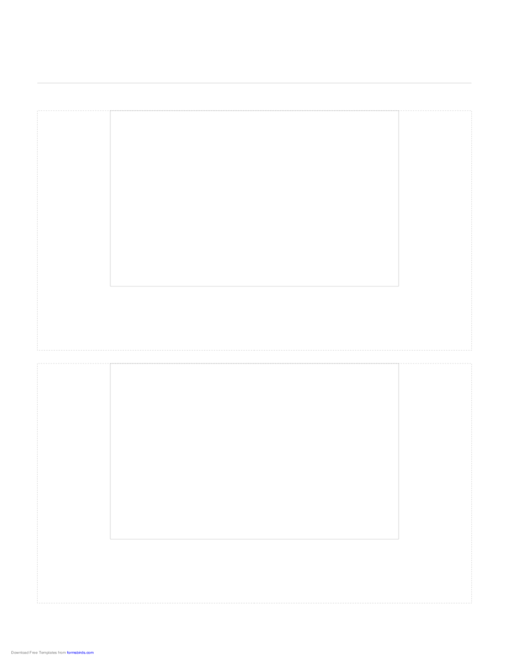 Storyboard with 1x2 Grid of 3:2 (35mm Photo) Screens on Letter Paper