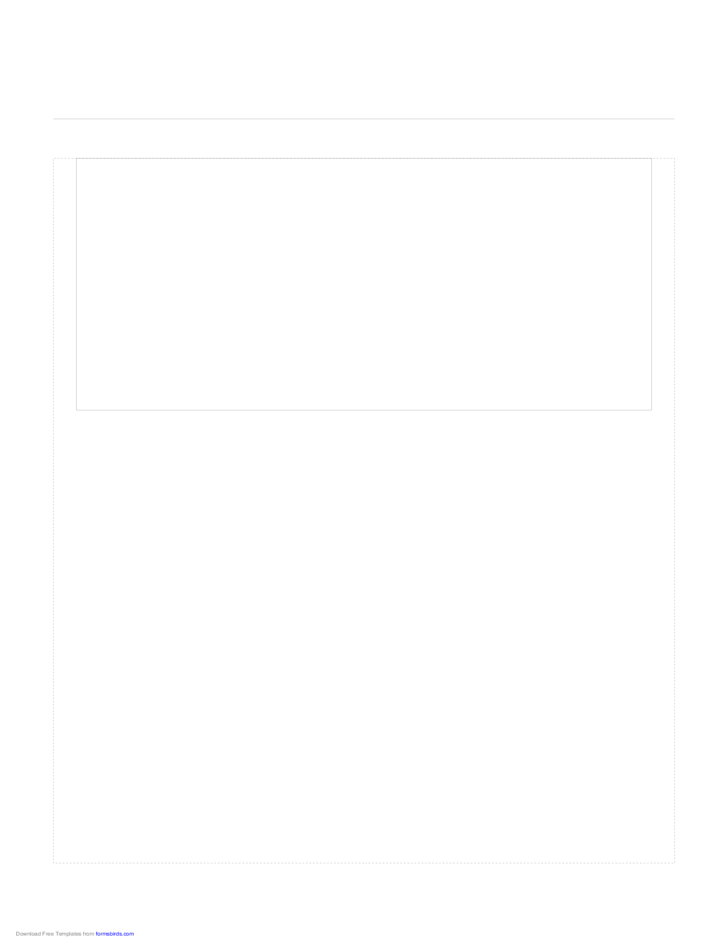 Storyboard with 1x1 Grid of 16:9 (Widescreen) Screens on Letter Paper