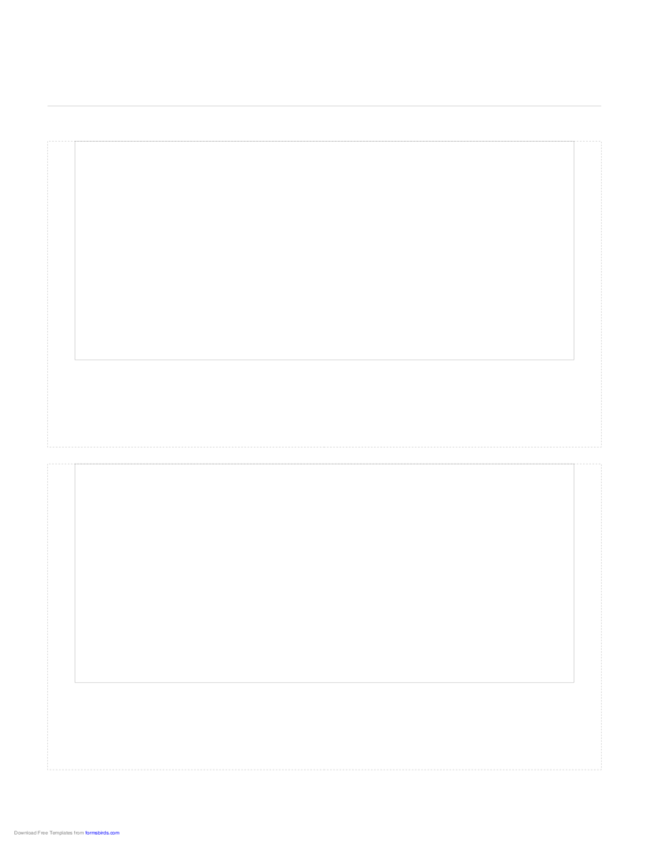 Storyboard with 1x2 Grid of 16:9 (Widescreen) Screens on Letter Paper