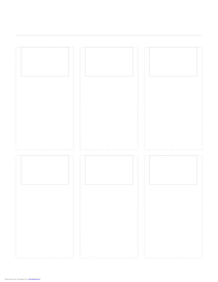 Storyboard with 3x2 Grid of 3:2 (35mm Photo) Screens on Letter Paper