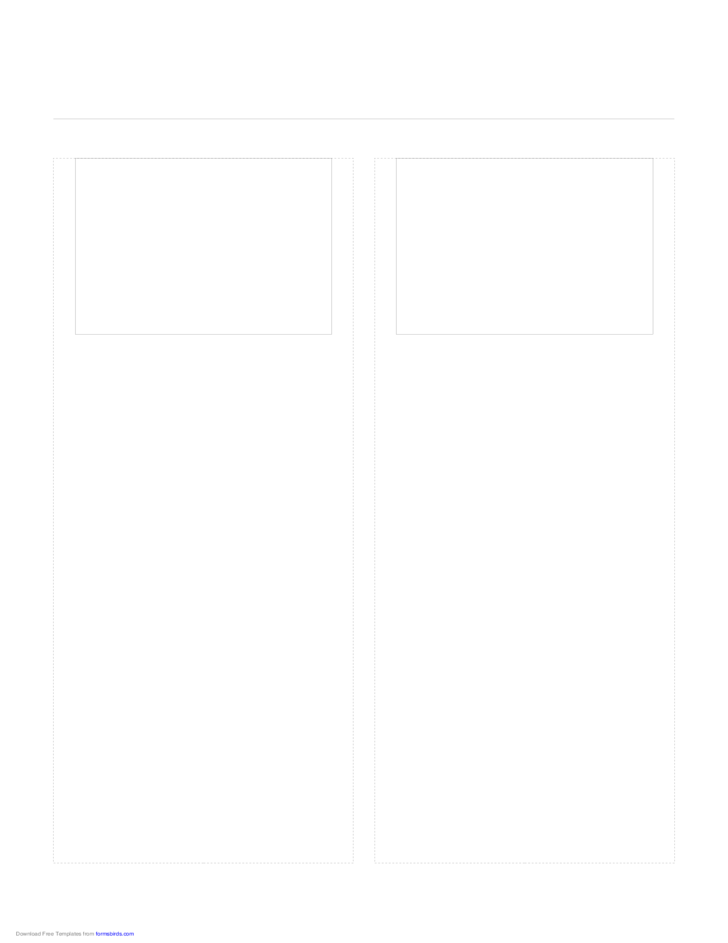 Storyboard with 2x1 Grid of 4:3 (Full Screen) Screens on Letter Paper