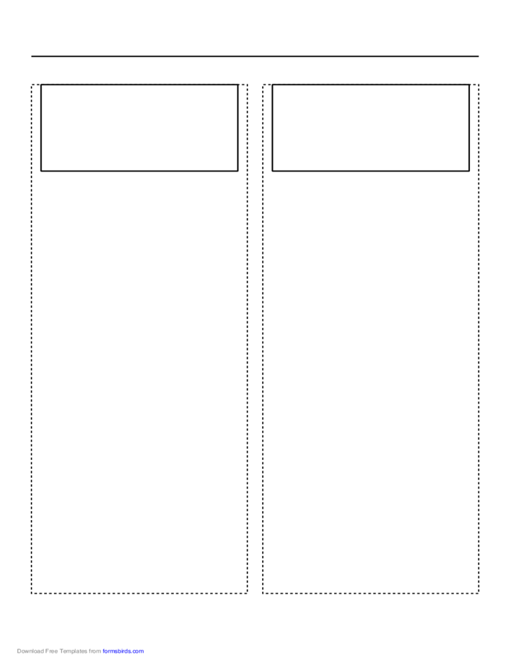 Storyboard with 2x1 Grid of 16:9 (Wide Screen) Screens on A4 Paper