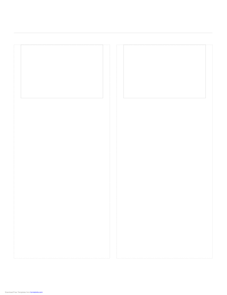 Storyboard with 2x1 Grid of 4:3 (Full Screen) Screens on A4 Paper