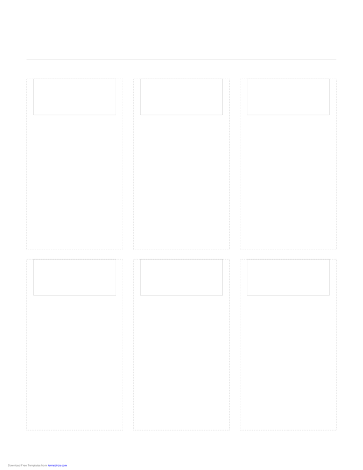 Storyboard with 3x2 Grid of 16:9 (Widescreen) Screens on Letter Paper