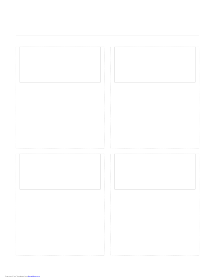 Storyboard with 2x2 Grid of 16:9 (Widescreen) Screens on Letter Paper