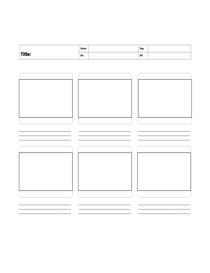 Sample Storyboard Template
