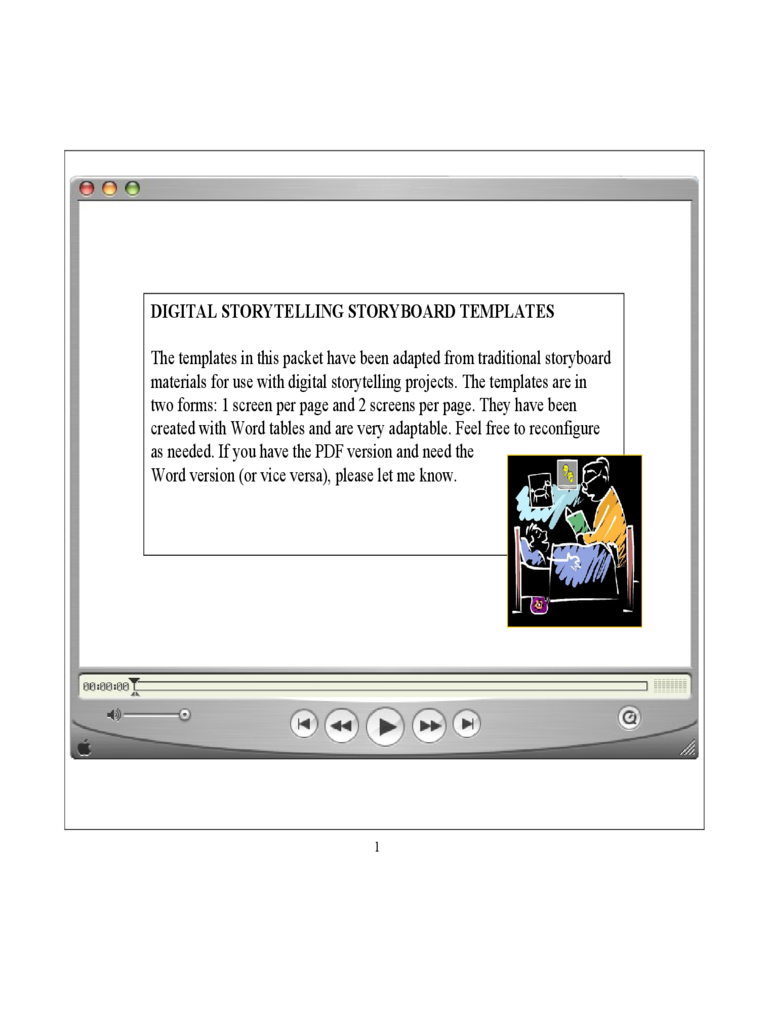 Digital Storytelling Storyboard Template