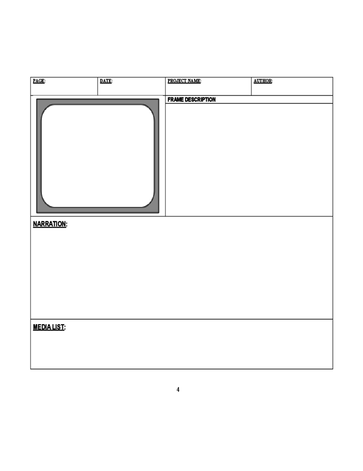 Digital Storyboard Template Teacheng