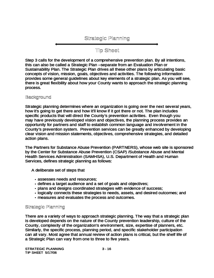 strategic planning template free download