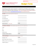 Student Budget Form - Rowan University Free Download