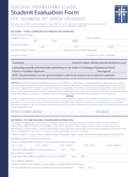 Student Evaluation Form - Washington Free Download