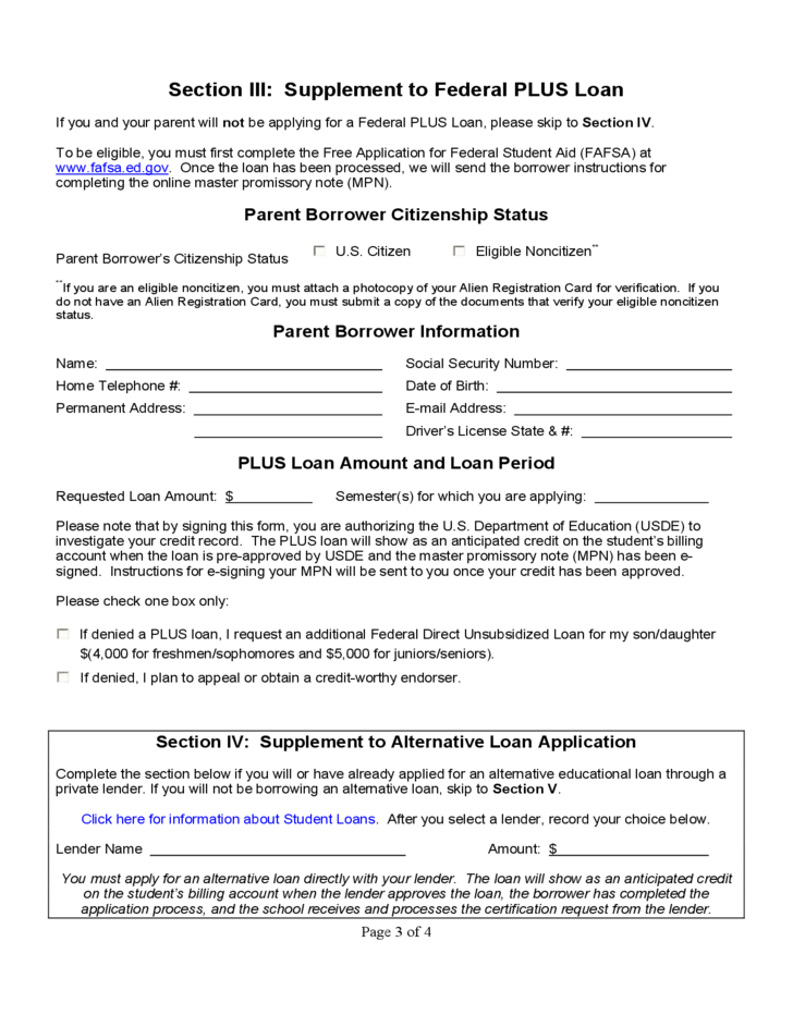Student Loan Application Form Yale University Free Download – Students Loan Application Form