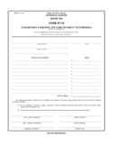 Student Tax Exemption Form - New Jersey Free Download