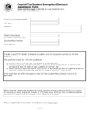 Student Tax Exemption Form - UK Free Download