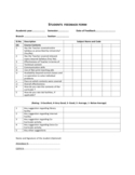 Students Feedback Form Sample Free Download