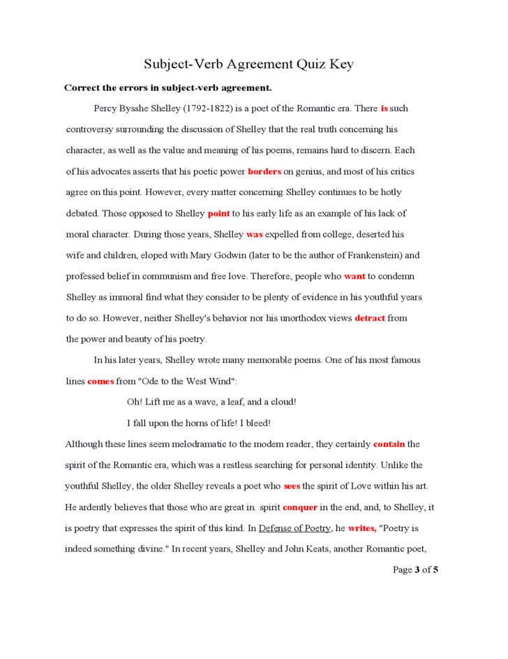 20 Rules Of Subject Verb Agreement Pdf