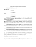 Assignment of Lease Form Free Download