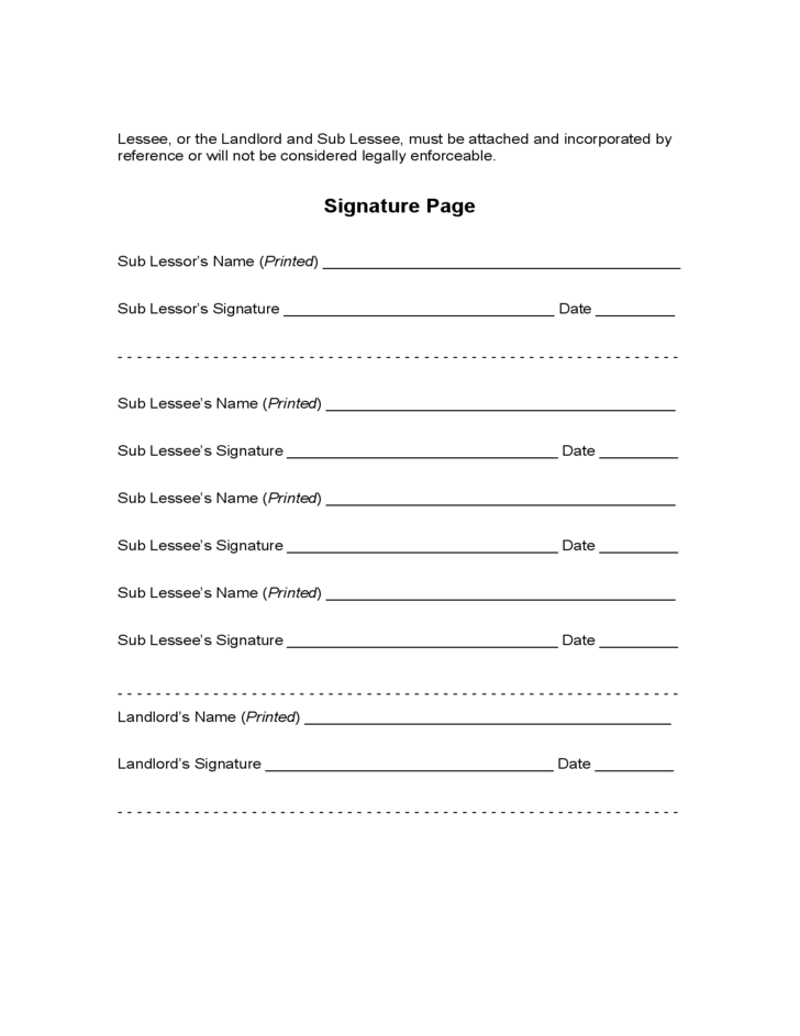 South Carolina Sublease Agreement Free Download