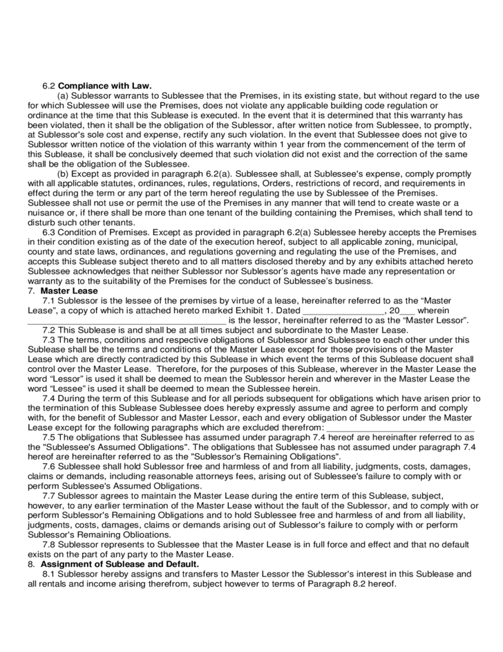 Sublease Contract Template Free Commercial Property Sublease – Sublet Agreement Definition