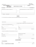 Substitution of Attorney Form - Michigan Free Download