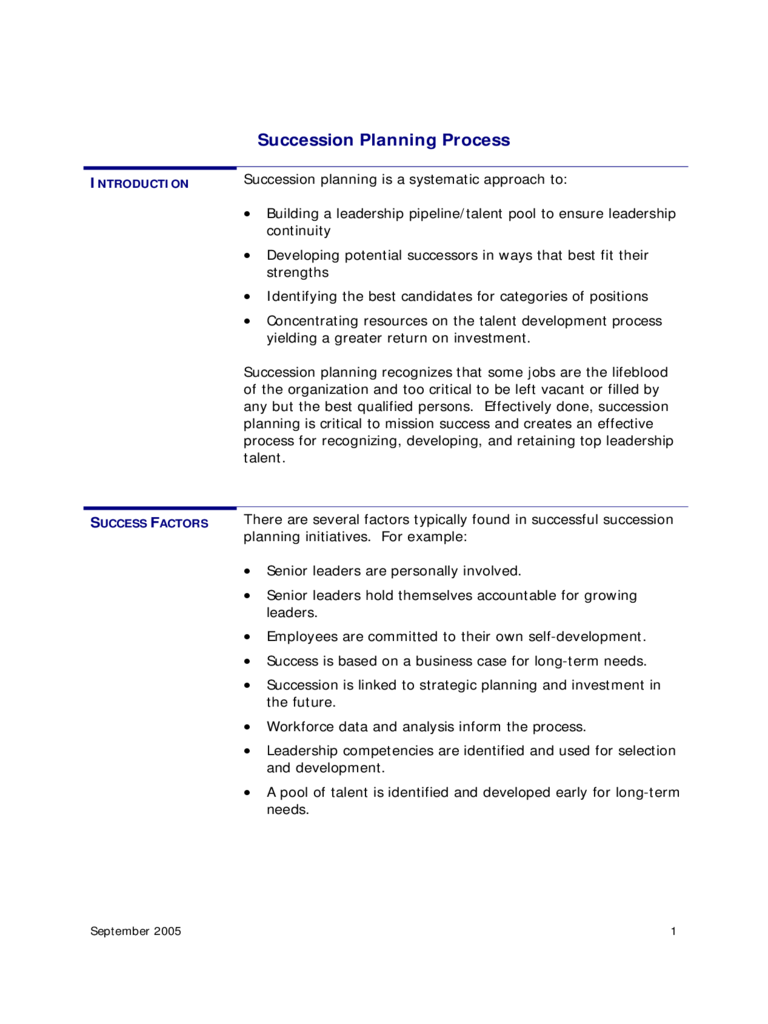 Succession planning 5 free templates in pdf word excel for Executive succession planning template
