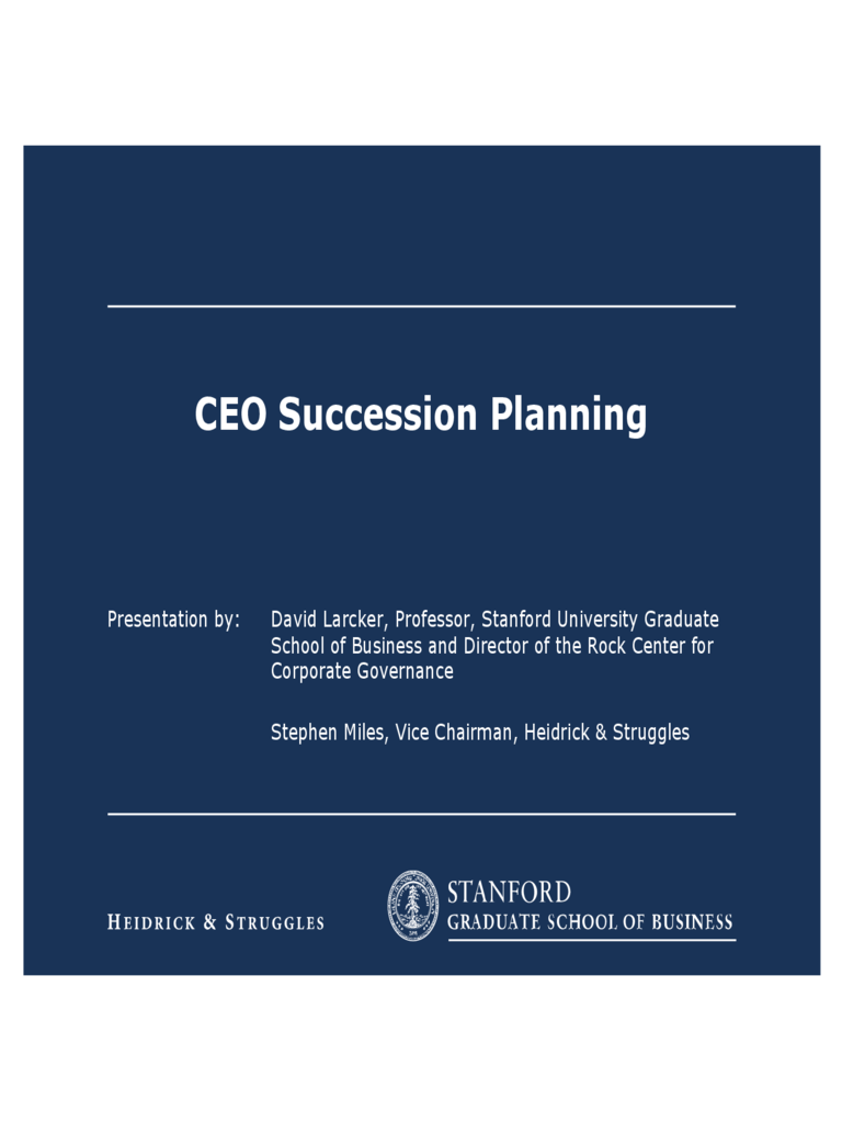 The Strategy of Succession Planning