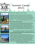 Summer Camp Brochure - Island Escapades Free Download