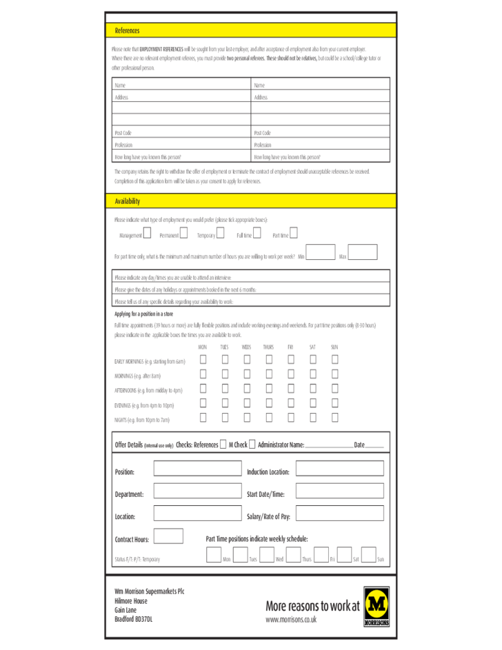 Downloads furthermore 3520387 moreover Mobile additionally  further Free Morrisons Job Application Form. on in n outburger