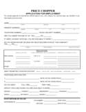 Price Chopper Application Form for Employment
