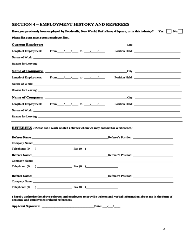 pak u0026 39 nsave employment application form free download