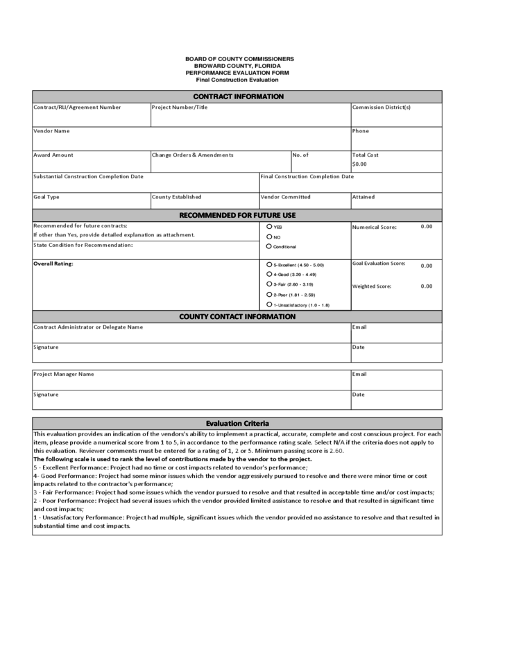 supplier evaluation form