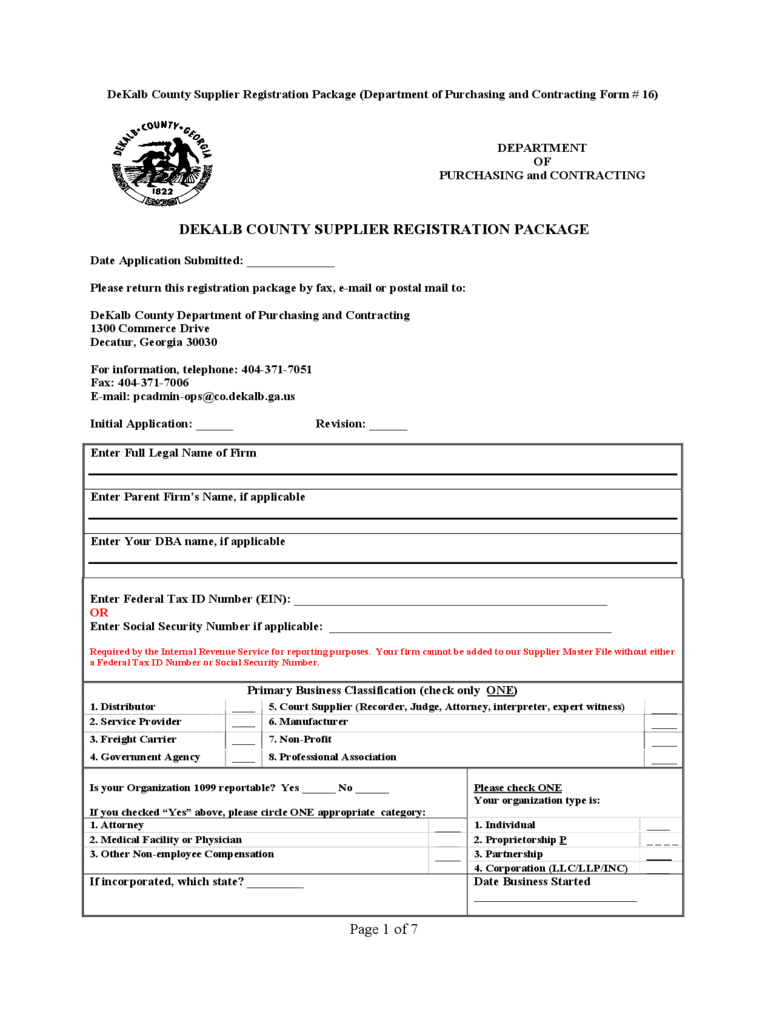 Supplier Registration Form - 2 Free Templates in PDF, Word, Excel ...