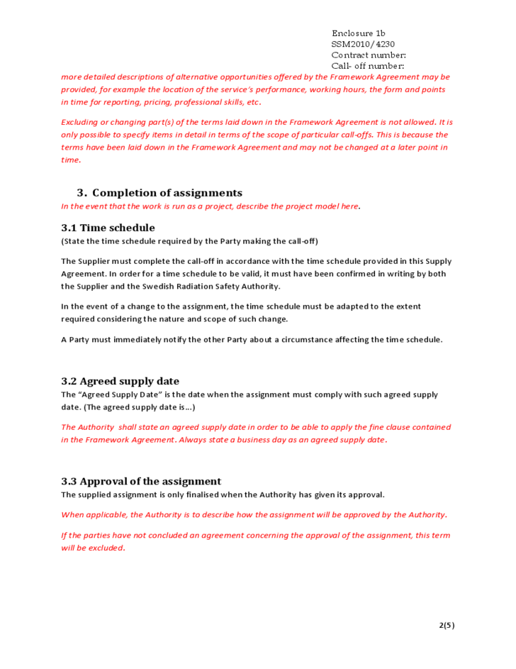 Master Supply Agreement Template
